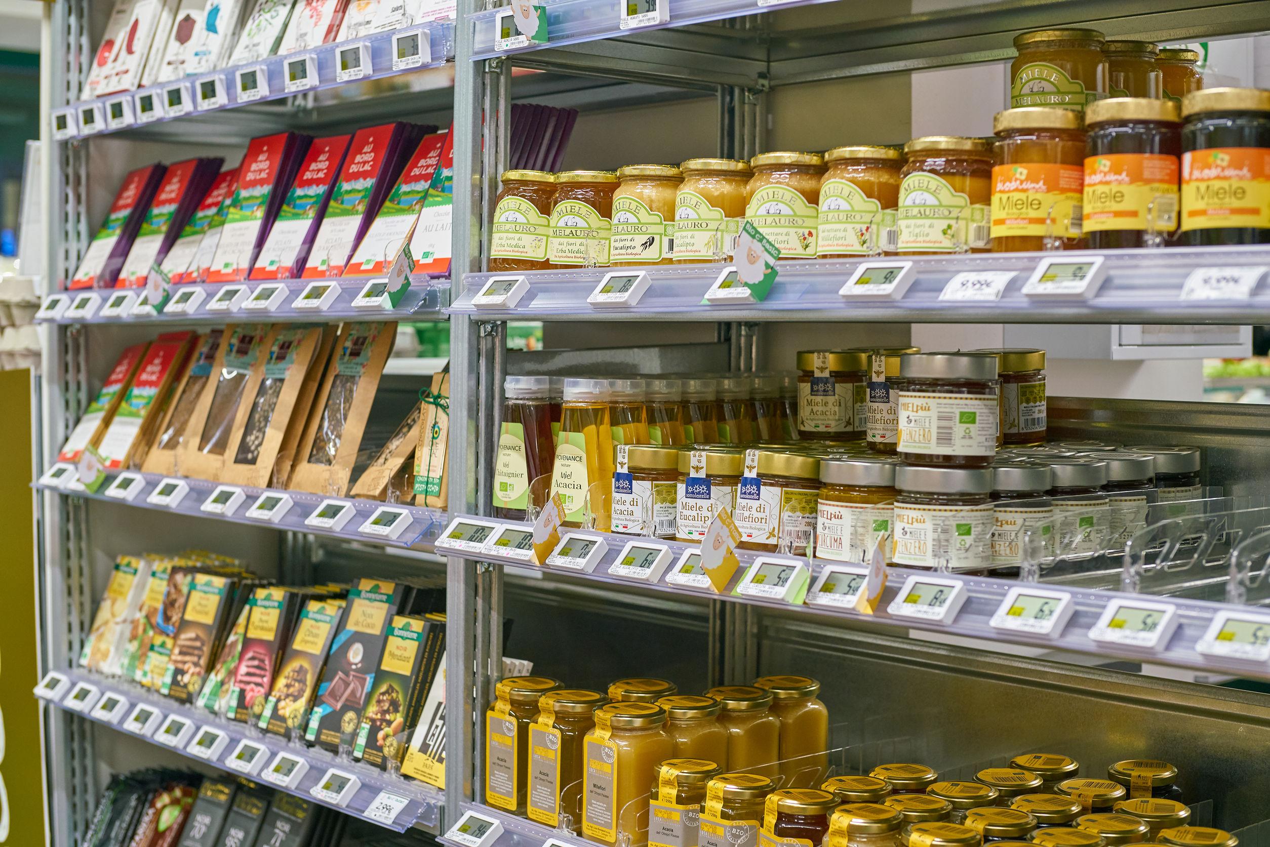miele scaffale supermercato
