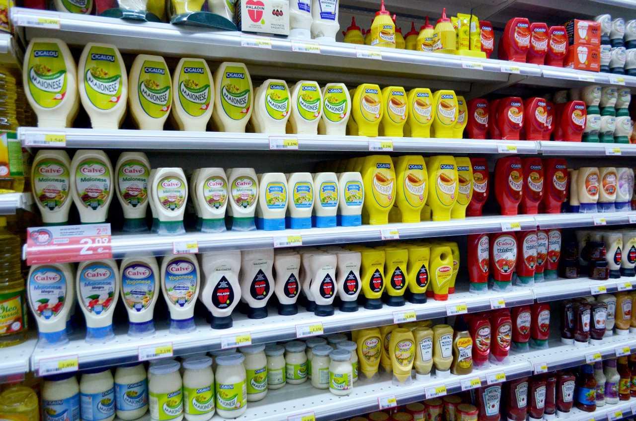 senape maionese salse supermercato