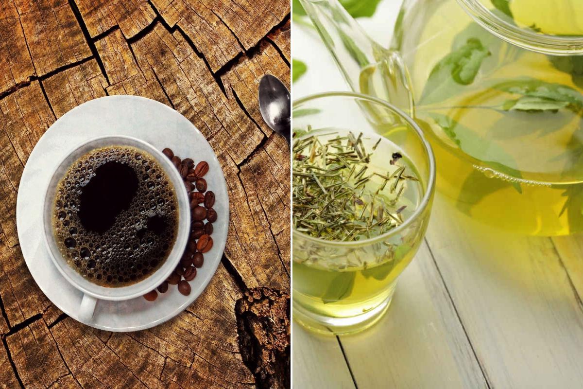 caffè e tè verde