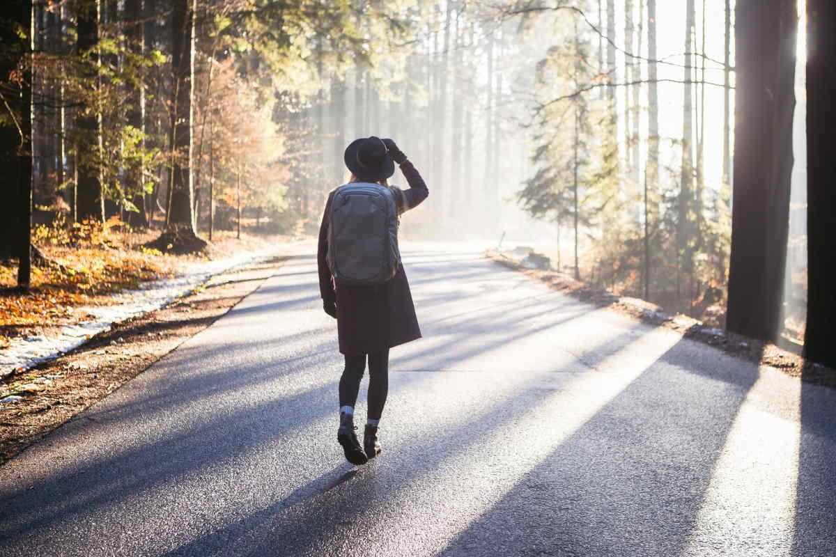 camminare alba