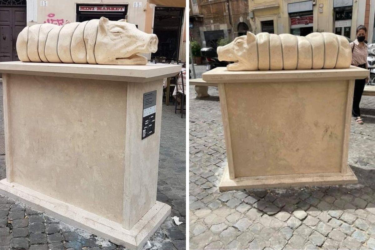 statua porchetta trastevere