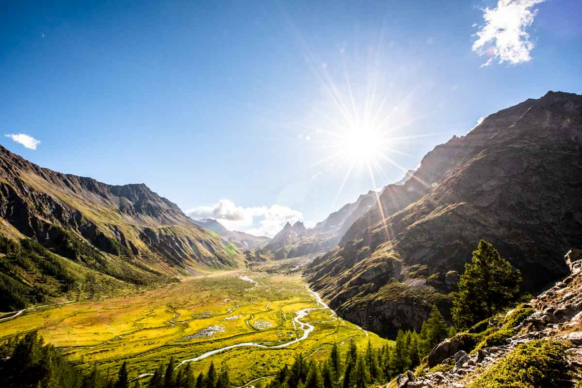 Courmayeur ai piedi del Monte Bianco