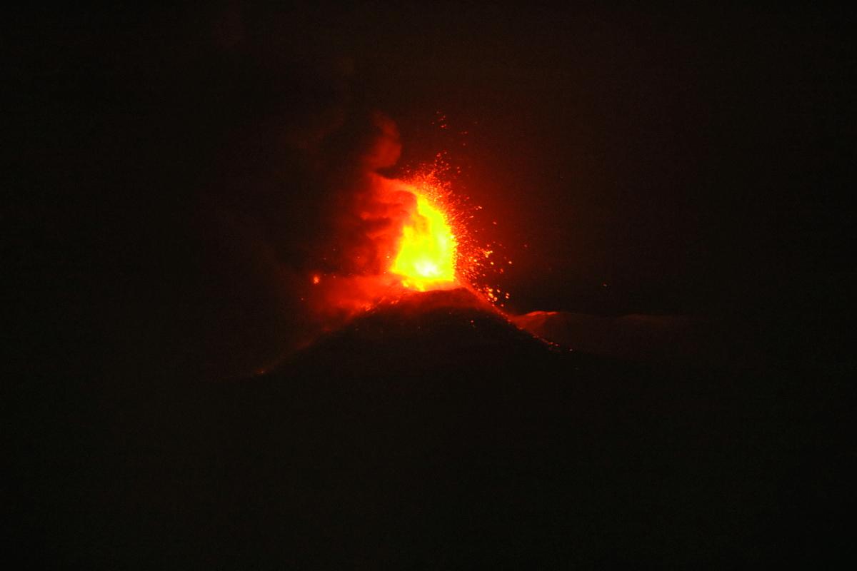 eruzione etna 6 luglio