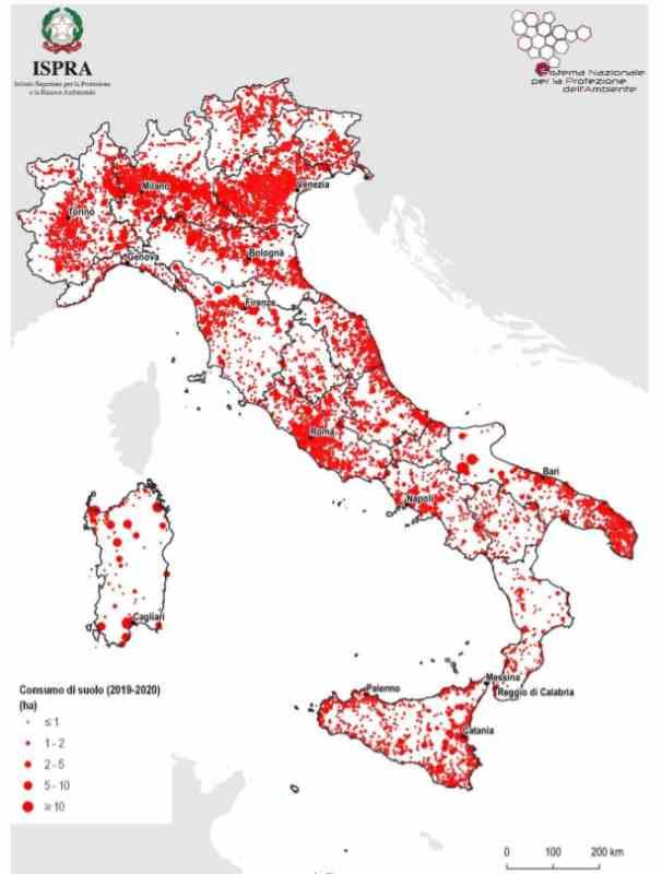 consumo suolo italia