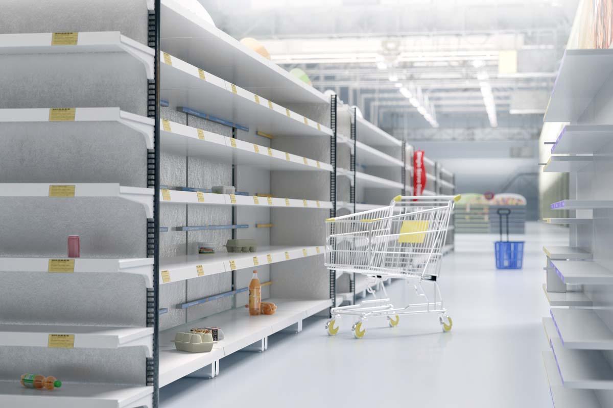 supermercato vuoto covid