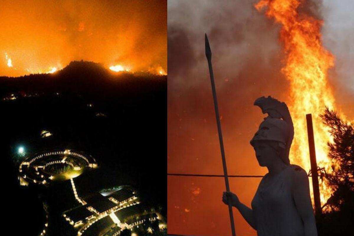 Incendi Atene