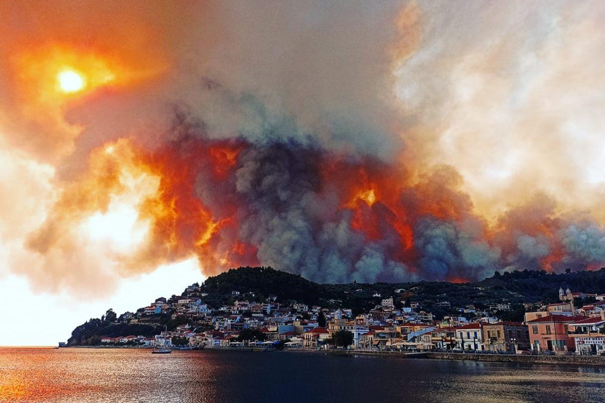 Incendi Evia Grecia