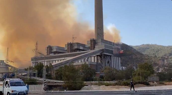 centrale elettrica Milas incendi