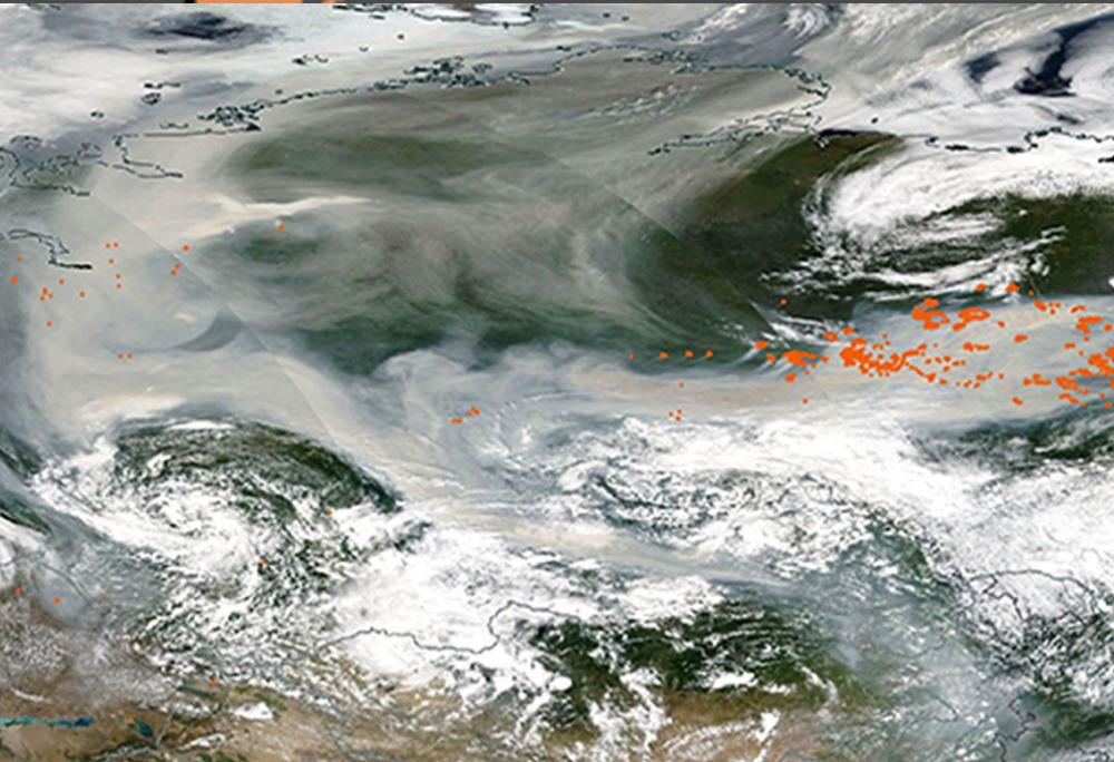 incendi siberia fumo polo nord