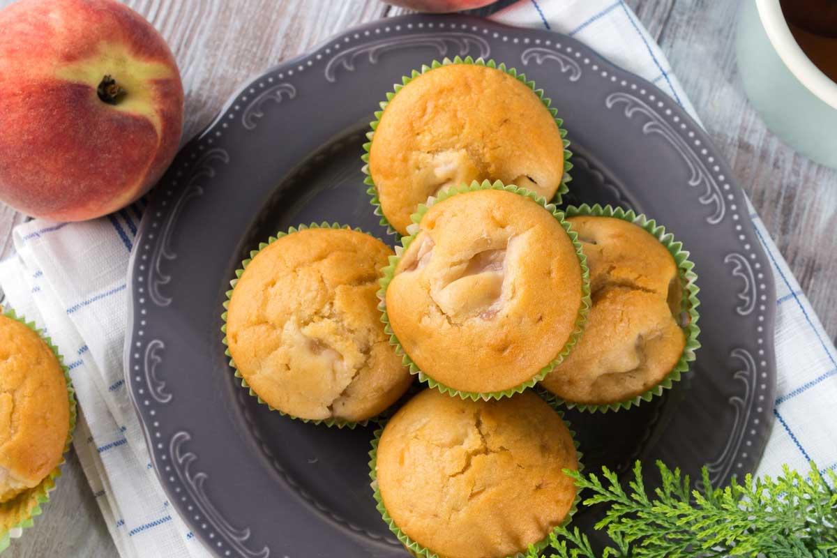 muffin vegano bucce delle pesche