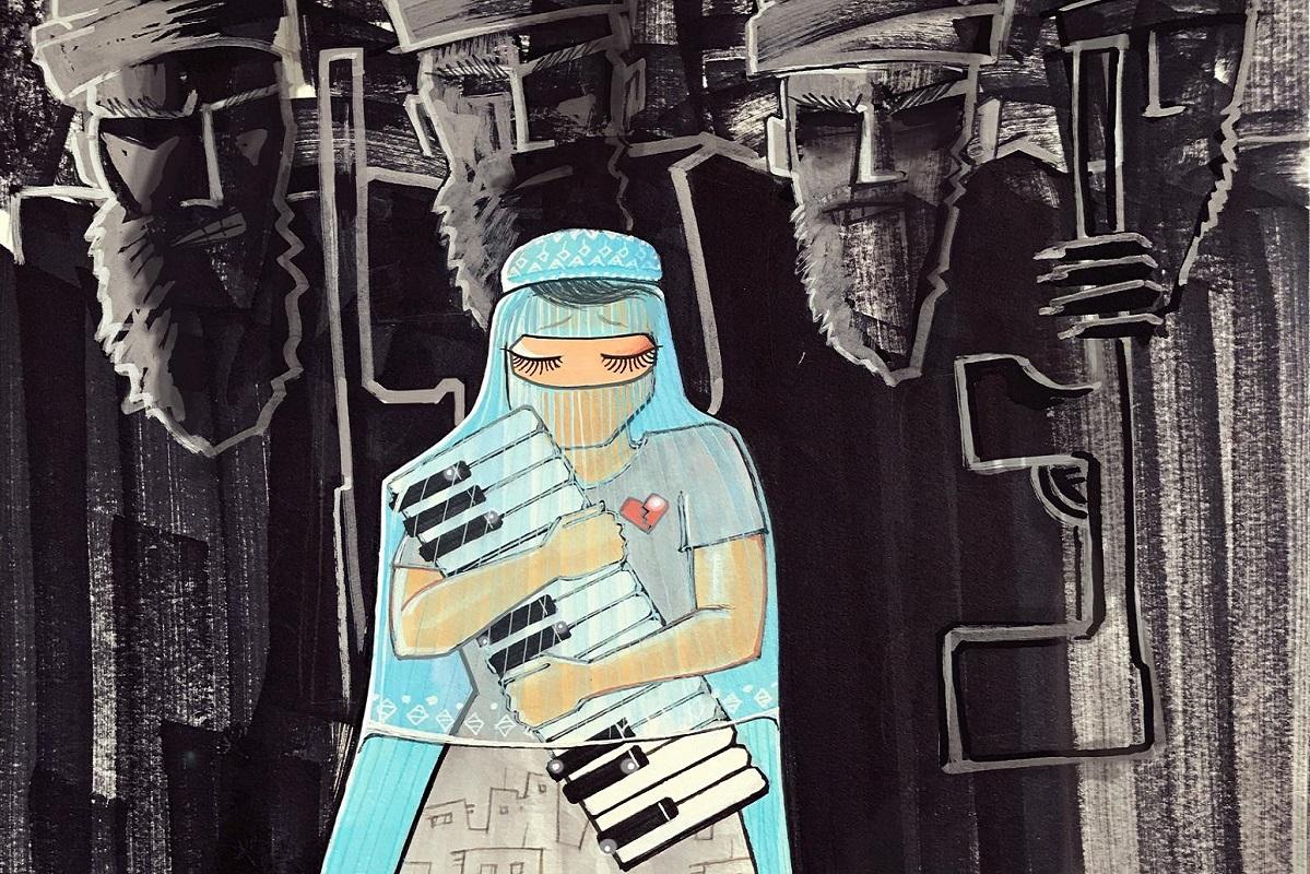 L'ultima opera di questa street artist afghana è un pugno nel cuore -  greenMe