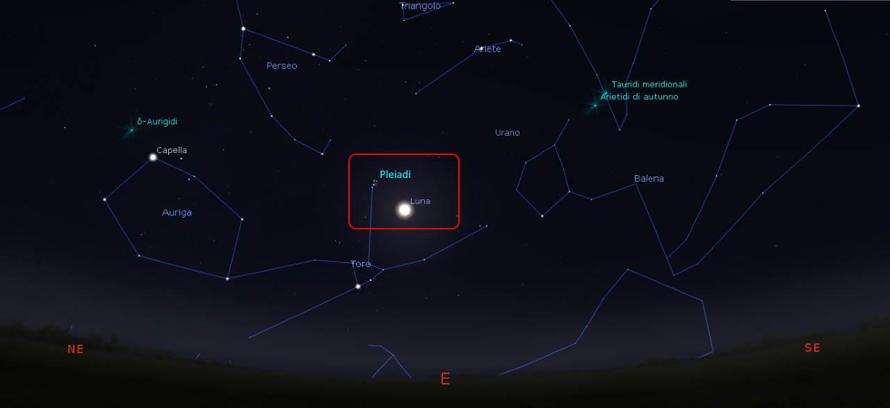 luna  pleaidi 25 settembre 2021