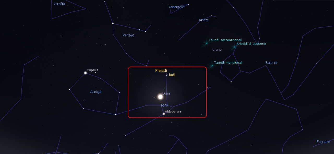 Luna-Pleiadi-Iadi 23 ottobre 2021